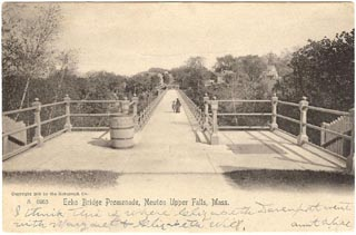 1905 Image of the Echo Bridge Promenade, Courtesy of Lee Fisher